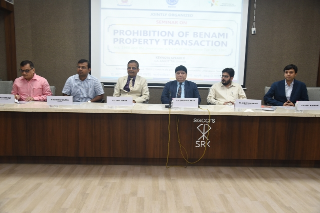 Seminar on 'Prohibition of Benami Property Transaction' 25-08-2018