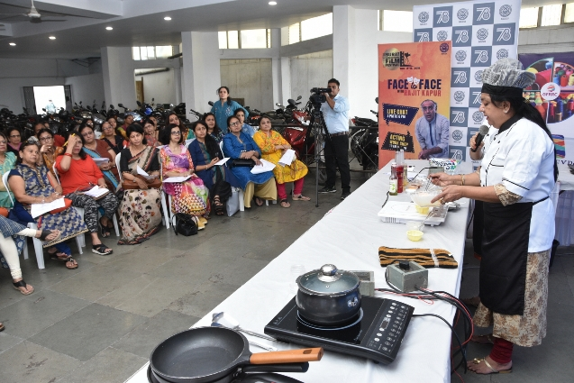 Cooking Workshop by Ms. Niranajana Joshi - Cooking Expert (Ladies wing) 05-09-2018
