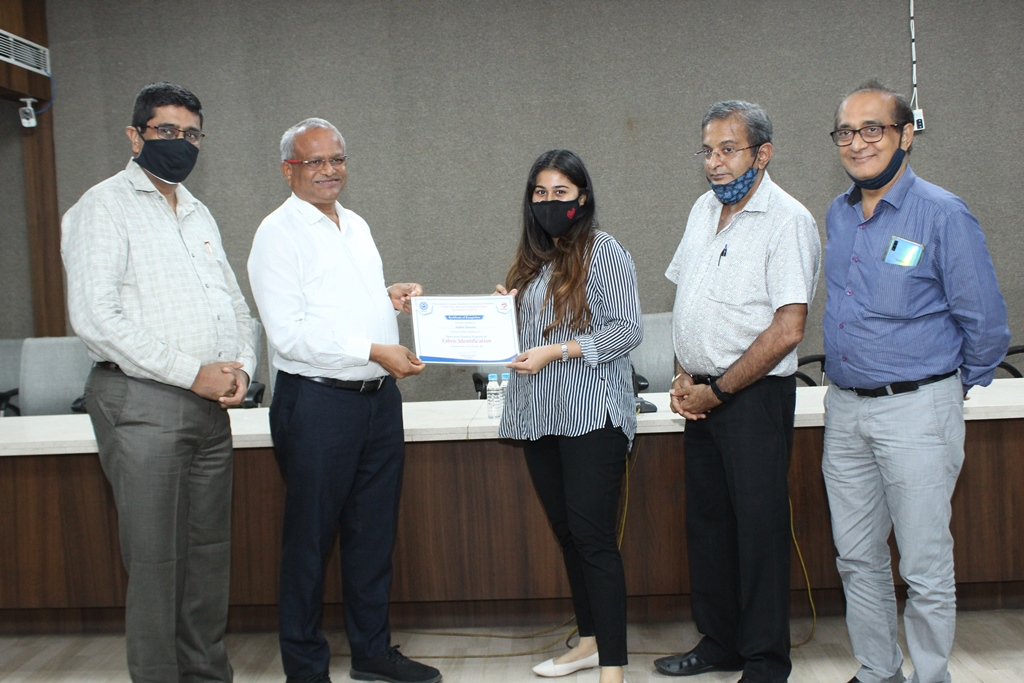 Certificate Distribution for GFRRC Fabric Identification Course - 3rd Batch 2 pm 25-06-2021