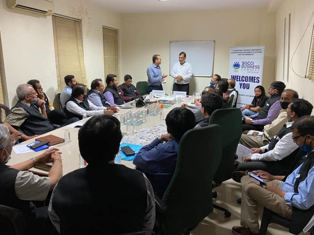 SGCCI Business Connect Committee Members visited Gokulanand Petrofibers Company @ Palsana 05-03-2021