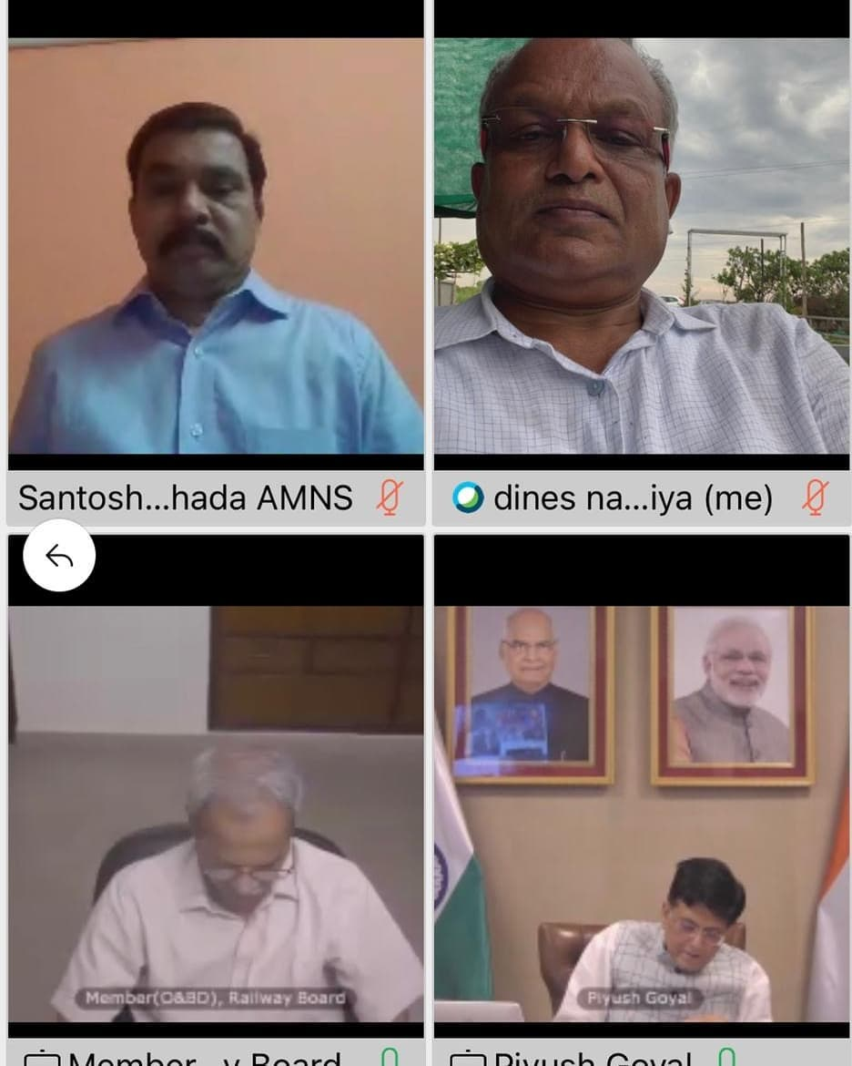 video conference with Union Industry Minister Piyush Goyal and Minister of Fertilizer and Chemicals